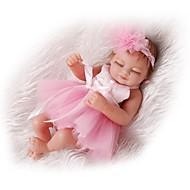 NPKCOLLECTION Reborn-dukker Babypiger 12 inch Fuld krops silicone Silikone Vinyl - livagtige Sødt Børnesikker Ikke Giftig Fødselsdag Tippede og forseglede negle Børne Pige Legetøj Gave