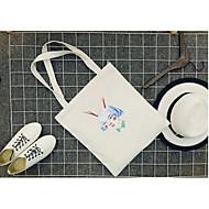 baratos Bolsas Tote-Unisexo Bolsas Tela de pintura Tote Ziper Azul / Branco / Preto