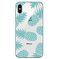 billiga Mobil cases & Skärmskydd-fodral Till Apple iPhone X / iPhone 8 Genomskinlig / Mönster Skal Frukt Mjukt TPU för iPhone X / iPhone 8 Plus / iPhone 8