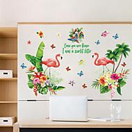 billiga Väggklistermärken-Dekrativa Väggstickers - Animal Wall Stickers Djur / Blommig / Botanisk Vardagsrum / Sovrum / Badrum