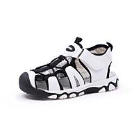 baratos Sapatos de Menino-Para Meninos Sapatos Couro Ecológico Verão Conforto Sandálias Caminhada Velcro para Infantil Branco / Preto