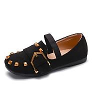tanie Obuwie dziewczęce-Dla dziewczynek Obuwie Nubuk Wiosna lato Comfort / Buty dla małych druhen Mokasyny i pantofle Spacery Gore na Dzieci Black / Różowy /