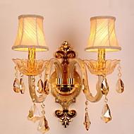 cheap -Crystal Vintage Wall Lamps & Sconces Living Room / Hallway Metal Wall Light 220-240V