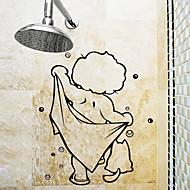 رخيصةأون -ملصقات وأشرطة بسيط / ضد الماء / اللصق التلقي العادي / كرتون / الحديث PVC 1PC ديكور الحمام