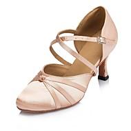 billige Moderne sko-Dame Moderne sko Sateng Sandaler Utsvingende hæl Dansesko Naken