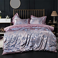 cheap High Quality Duvet Covers-Duvet Cover Sets Luxury 100% Cotton / Silk / Cotton Blend / Cotton Jacquard Printed & Jacquard 4 PieceBedding Sets / 300 / 4pcs (1 Duvet Cover, 1 Flat Sheet, 2 Shams)