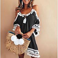 Χαμηλού Κόστους -Γυναικεία Εξόδου / Παραλία Φαρδιά Πουκάμισο Φόρεμα Πάνω από το Γόνατο