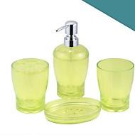 Χαμηλού Κόστους Σετ αξεσουάρ μπάνιου-Σετ αξεσουάρ μπάνιου Νεό Σχέδιο Μοντέρνα Πλαστικά 4pcs - Μπάνιο Μονό