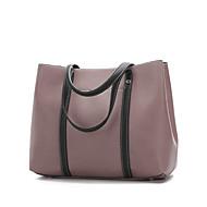 baratos Super Ofertas-Mulheres Bolsas couro legítimo Conjuntos de saco 2 Pcs Purse Set Botões / Ziper Rosa / Marron / Vinho