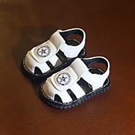 baratos Sapatos de Menino-Para Meninos Sapatos Couro Ecológico Primavera Verão Primeiros Passos Sandálias Velcro para Bébé Branco / Amarelo / Vermelho