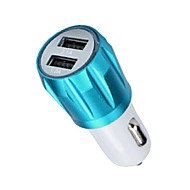 billiga Billaddare för mobilen-dubbla USB-portar 12V bil laddare