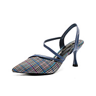 baratos Sapatos Femininos-Mulheres Sapatos Tecido elástico Verão MaryJane Saltos Salto Agulha Dedo Apontado Preto / Amarelo / Azul