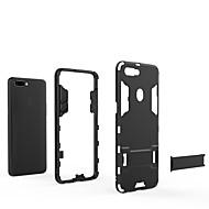 billiga Mobil cases & Skärmskydd-fodral Till OPPO R11s Plus / R11s / R11 Plus med stativ Skal Enfärgad Hårt PC för OPPO R11s Plus / Oppo R11s / Oppo R11 Plus