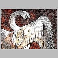 billiga Väggkonst-Tryck Stretchad Kanvastryck - Djur / Fairytale Theme Klassisk