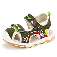 baratos Sapatos de Menino-Para Meninos Sapatos Couro Ecológico Verão Conforto / Sapatos para Daminhas de Honra Sandálias Caminhada Estampa Animal / Velcro para Bébé
