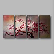 billiga Blom-/växtmålningar-Hang målad oljemålning HANDMÅLAD - Abstrakt / Blommig / Botanisk Samtida Duk