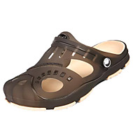 Hombre Zapatos Punto Verano Confort Sandalias Negro / Wine ABqZuX