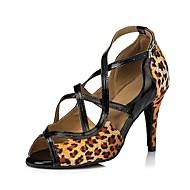 billige Sko til latindans-Dame Sko til latindans Sateng Sandaler Slim High Heel Dansesko Leopard