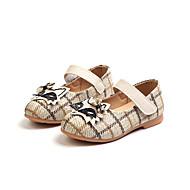 baratos Sapatos de Menina-Para Meninas Sapatos Sintéticos Primavera Verão Conforto / Sapatos para Daminhas de Honra Rasos Caminhada Velcro para Infantil Bege / Rosa claro