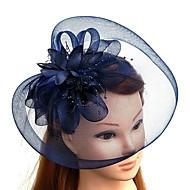 Plume / Filet Kentucky Derby Hat / Fascinators / Chapeaux avec Plume / Fleur 1pc Mariage / Occasion spéciale Casque