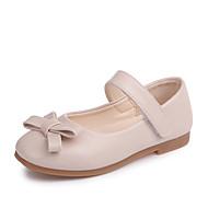 baratos Sapatos de Menina-Para Meninas Sapatos Couro Ecológico Primavera Verão Conforto / Sapatos para Daminhas de Honra Rasos Caminhada Laço / Velcro para Adolescente Preto / Bege / Rosa claro