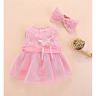 赤ちゃん 女の子 ソリッド ノースリーブ ドレス