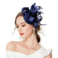 Damen Retro / Elegant, Stoff Kubikzirkonia Stirnband / Haar Clip / Fascinator - Schleife Solide / Hochzeit / Ganzjährig