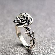 Dam Skulptur Ring Legering Blomma damer Vintage Romantisk Ledig / Sportig Moderingar Smycken Silver Till Dagligen Bar 6 / 7 / 8 / 9