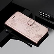 billiga Mobil cases & Skärmskydd-fodral Till Sony Xperia XZ2 / Xperia L2 Plånbok / Korthållare / Lucka Fodral Fjäril Hårt PU läder för Sony Xperia Z3 / Sony Xperia Z3 Mini / Sony Xperia Z5