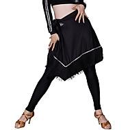billiga Danskläder och dansskor-Latinamerikansk dans Underdelar Dam Träning Syntetiskt siden Tofs Naturlig Kjolar