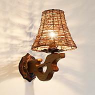 billige Vegglamper-Nytt Design / Kul Enkel / Moderne / Nutidig Vegglamper Stue / Soverom Tre / Bambus Vegglampe 220-240V 40 W