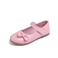 baratos Sapatos de Menina-Para Meninas Sapatos Couro Ecológico Primavera Verão Conforto / Sapatos para Daminhas de Honra Rasos Caminhada Laço / Velcro para Infantil Branco / Preto / Rosa claro