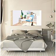 billiga Väggklistermärken-Dekrativa Väggstickers / Dörrklistermärken - Väggstickers Flygplan / Väggstickers i 3D Abstrakt / Landskap Vardagsrum / Sovrum