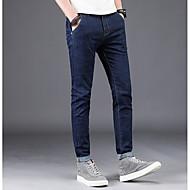 Herre Bomuld Jeans Bukser Geometrisk