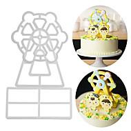 billige Bakeredskap-Bakeware verktøy Aluminium Ny ankomst / 3D / GDS Til Kake / Party / Bursdag Cake Moulds 3pcs