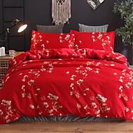 billige Kinesiske røde dynetrekk-Sengesett Kinesisk rød Polyester Mønstret 3 delerBedding Sets