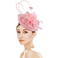Dámské Kentucky Derby Vintage Elegantní Květiny Kubický zirkon Čelenky klobouk / Svatební / Látka / Celý rok