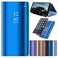 billiga Mobil cases & Skärmskydd-fodral Till Huawei P20 / P20 lite med stativ / Plätering / Spegel Fodral Enfärgad Hårt PU läder för Huawei P20 / Huawei P20 Pro / Huawei P20 lite / P10 Lite