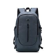 baratos Mochilas-Unisexo Bolsas Tecido Oxford mochila Ziper Azul Escuro