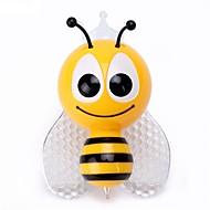 billige Skrivebordslamper-1pc ledet fargerikt natt lys dekorasjon rgb liten bi& sommerfugl barnelampe for hjemmeinnredning