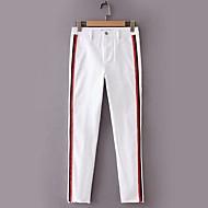 Dame Aktiv Tynd Jeans Bukser Ensfarvet