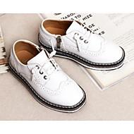 baratos Sapatos de Menino-Para Meninos Sapatos Couro Ecológico Primavera & Outono Conforto Oxfords para Branco / Preto