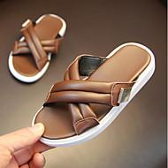 baratos Sapatos de Menino-Para Meninos / Para Meninas Sapatos Sintéticos Verão Conforto Chinelos e flip-flops para Bébé Branco / Preto / Marron