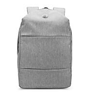 billige Computertasker-Unisex Tasker Oxfordtøj Sportstaske Lynlås Grå