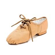 billige Moderne sko-Herre Jazz-sko / Moderne sko Lerret Joggesko Flat hæl Dansesko Hvit / Svart / Mandel