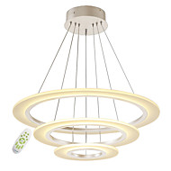 cheap Ceiling Lights-Modern Electrodeless Dimming Acrylic Simplicity LED Pendant Lights Three Rings Indoor Light For Living Room Bedroom Restaurant