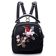 baratos Mochilas-Mulheres Bolsas Tecido Oxford mochila Com Relevo Vermelho / Roxo