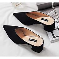 preiswerte -Damen Schuhe Schafspelz Sommer Komfort Cloggs & Pantoletten Blockabsatz Schwarz / Rosa / Marron