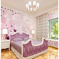 billige Tapet-bakgrunns / Veggmaleri Lerret Tapetsering - selvklebende nødvendig Art Deco / Trær / blader / Flise