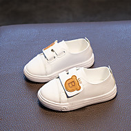 baratos Sapatos de Menino-Para Meninos / Para Meninas Sapatos Couro Sintético Primavera & Outono Conforto Tênis Velcro para Infantil Branco / Preto